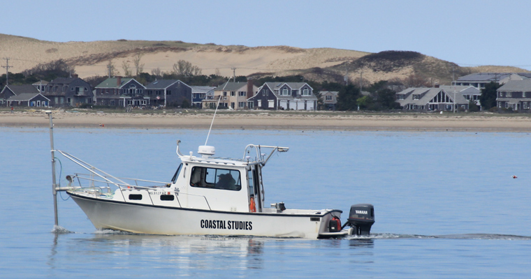 Customized, 8.2-m Eastern using the EdgeTech 6205, a phase-measuring side scan sonar, on the water in Provincetown